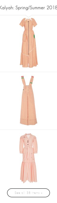 """""""Kalyah: Spring/Summer 2018"""" by livnd ❤ liked on Polyvore featuring livndfashion, springsummer2018, Kalyah, livndkalyah, dresses, plaid, red dress, triangle cut out dress, cutout maxi dresses and red maxi dress"""