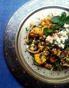 Spicy Parsnip, Butternut & Chickpea Salad:  a versatile #vegetarian dish that is both hot and cold. It also keeps beautifully in the fridge.  #salad #recipes #vegetarian