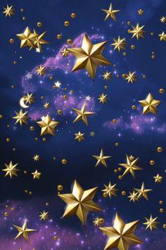 Golden stars Star Wars, Star Images, Star Wallpaper, Golden Star, Flag, Stars, Nature, Sterne, Science