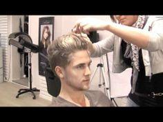 Men's Short Disconnected Hair Cut - 60's mens haircut - Kevin Murphy Gritty Business - Bleaching hair spot - Slikhaar TV 82 - Hot to Video Tutorial - Not Detailed