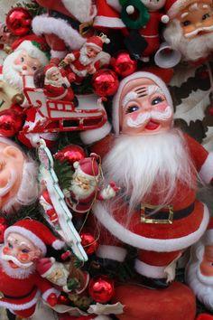 Vintage Noël guirlande de Santa Hand Crafted par cybersenora