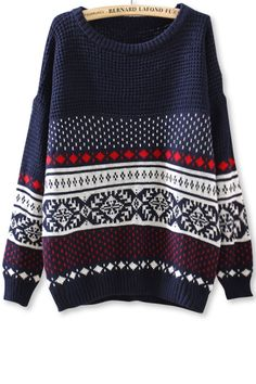 Southwestern Drop-Sleeves SweaterOASAP Giveaway, 10 pieces per day, till the end of 2014! Easiest way to get free clothing!