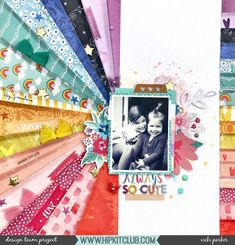 Always So Cute - Hip Kit Club paper stash bust layout Scrapbooking Journal, Scrapbooking Layouts, Scrapbook Bebe, Scrapbook Cards, Scrapbook Templates, Scrapbook Designs, December Daily, January 2016, Stencil