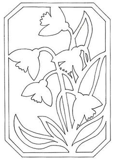 Kirigami, Stained Glass Paint, Stained Glass Patterns, Paper Cutting Patterns, Scroll Saw Patterns, Stencil Designs, Pop Up Cards, Origami Paper, Easter Crafts