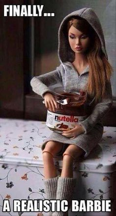 Horse hockey! Anyone who really knows how to enjoy Nutella does not look as anorexic as that doll.
