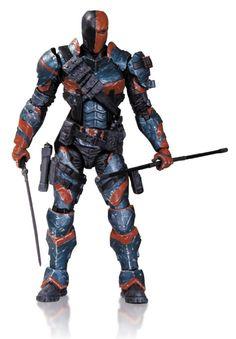 Amazon.com: DC Collectibles Batman Arkham Origins Series 2 Deathstroke Action Figure: Toys & Games