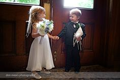 Flower girl and ring bearer! Shot by Don Mears Photography (Richmond, VA).