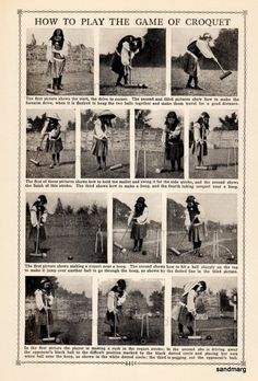 1902 How To Play Croquet