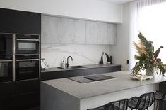The Block - Kitchen Renovations In Australia - The Reveal , Concrete Kitchen, Concrete Slab, The Block Kitchen, The Block Australia, Georgia, Freedom Furniture, Kitchen Cabinetry, Kitchen Furniture, Kitchen Design