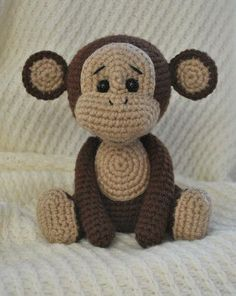PDF Monkey. A free master class, the scheme and the description for knitting of a toy of an amiguruma a hook. We knit toys the hands! FREE amigurumi pattern. #амигуруми #amigurumi of #схема #описание of #мк #pattern of #вязание #crochet of #knitting #toy of #handmade #поделки of #pdf #рукоделие of #обезьянка #обезьяна of #мартышка #monkey of #шимпанзе #chimp