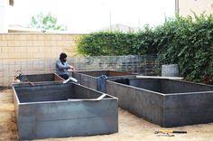 cor-ten steel garden beds