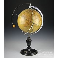 """The Lunarium globe refers to """"Tellux"""", designed by C. Boehmer and manufactured by the Italian Globe manufacturer and educational editions G. Paravia & Cie in Rome. Rome, Decoration, The Dreamers, Celestial, Antiques, Fanfiction, Steampunk, Costume, Tools"""