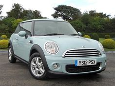 Ice Blue Mini Cooper... The perfect car for a girl
