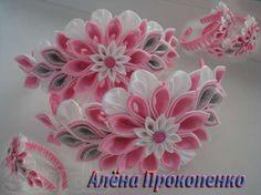 Украшения для волос ручной работы в стиле канзаши Днепропетровск - изображение 3