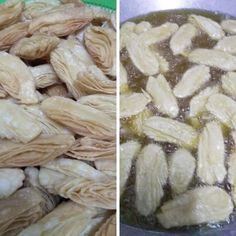 Resipi Kuih Tiram Rangup Krup Krup - RASA Oyster Cookies, Oysters, Garlic, Food And Drink, Snacks, Vegetables, Appetizers, Vegetable Recipes, Veggie Food