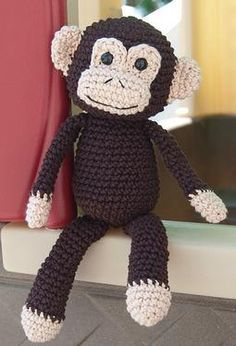 Monkey Business Crochet Toy-- Try magnets in the paws and this toy will hug you.  We saw one in a store and my daughter just loved it.  Safety tip: make sure that those magnets are well secured.  You certainly don't want a toddler to chew open a paw and swallow a magnet!