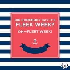 Did somebody say it's FLEEK WEEK? Oh—#FleetWeek! Fleet Week, Knowing You, Nautical, Calm, Sayings, Artwork, Navy Marine, Work Of Art, Lyrics