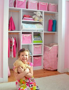 Love this closet organization for the girls