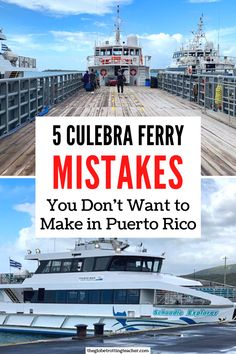 Planning to take the Culebra ferry over to Flamenco Beach on your Puerto Rico trip? Use this list of 5 Culebra ferry mistakes to avoid in Puerto Rico to learn how make your visit to Culebra a success! Caribbean Vacations, Caribbean Cruise, Beautiful Places To Visit, Cool Places To Visit, Travel Destinations, Travel Tips, Travel Ideas, Vacation Trips, Vacation Spots
