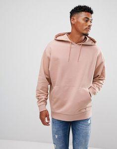 ASOS Oversized Hoodie in Pink - Pink