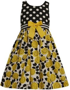 Bonnie Jean Tween Girls Yellow Black White Roses and DOTS Woven Spring Summer Flower Girl Party Dress Girls Formal Dresses, Kids Outfits Girls, Girls Party Dress, Little Dresses, Little Girl Dresses, Girl Outfits, Tween Girls, Little Girl Fashion, Toddler Fashion
