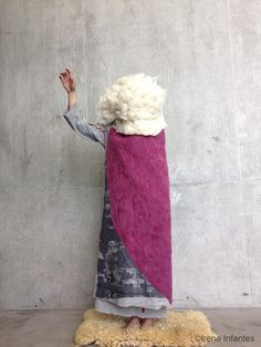 Contemporay piece by the textile designer Irene Infantes from Central Saint Martins. Traditional techniques applied into conceptual pieces. Needle punch felted and silk screen printed. Irene, Central Saint Martins, Silk Screen Printing, Interior Design Inspiration, Textile Design, Shawls, Punch, Wraps, Textiles