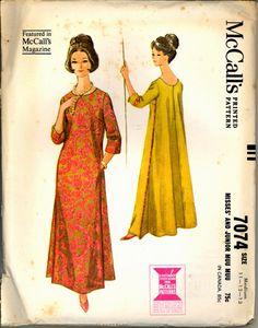1960s Muu Muu Mumu McCalls 7074 Bust 31 half by VintagePatternsCo1
