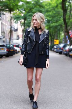 A leather jacket will always be in fashion