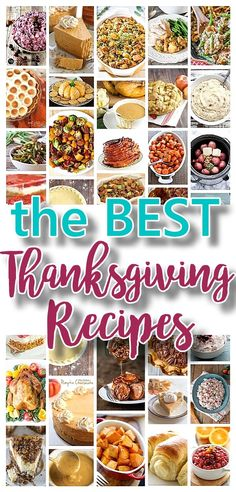 The BEST Classic, Improved and Traditional Thanksgiving Dinner Menu Favorites Recipes - Main Dishes, Side Dishes, Appetizers, Salads, Yummy Desserts and more! via Dreaming in DIY