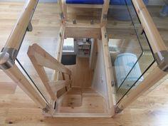 space saver steps, glass batustrade