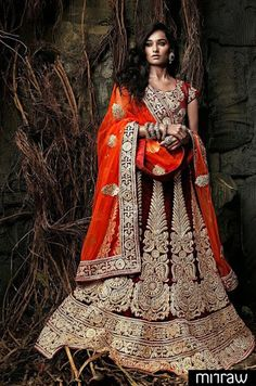 Heavy worked bridal lehenga choli