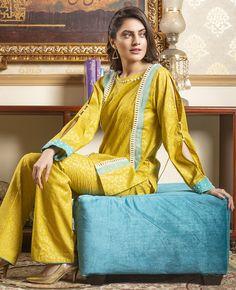 Sadaf Arshad Fanoos Assortment 2019 - Suit World Pakistani Cape Dresses, Pakistani Dress Design, Pakistani Outfits, Frock Fashion, Fashion Dresses, Unique Dresses, Casual Dresses, Stylish Summer Outfits, Baby Dress Design