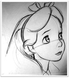 Alice from Disney's Alice in Wonderland. I love little sketches like this.