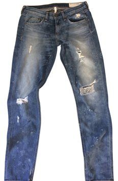 30ff59b72f Rag   Bone Beacon Distressed Boyfriend Cut Jeans Size 24 (0
