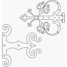 Medieval door hinge plate patterns