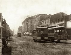 Fourth Street south of Morgan, 1876 by Missouri History Museum, via Flickr