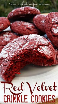 Red Velvet Crinkle Cookies Recipe - Raining Hot Coupons