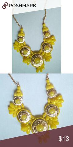 NEW! Retro Yellow Bib Statement Necklace Last One! NEW! Retro Yellow Bib Statement Necklace   ???PRICE IS FIRM???  ???NO TRADES??? Jewelry Necklaces