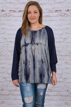 Go With the Flow Top, Navy