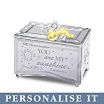 'Granddaughter, You Are My Sunshine' Personalised Music Box