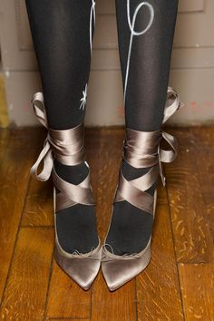 Ballet shoes #backstage at Olympia Le-Tan A/W '15 #PFW