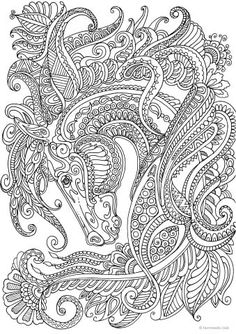 Graceful Horse coloring page