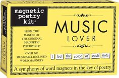 AmazonSmile: Magnetic Poetry - Music Lover Kit - Words for Refrigerator - Write Poems and Letters on the Fridge - Made in the USA: Toys & Games