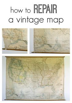 One simple tool to help you repair a vintage map and protect the edges from ripping. www.thedempsterlogbook.com