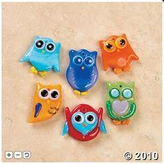 owl pins @ Oriental Trading Company