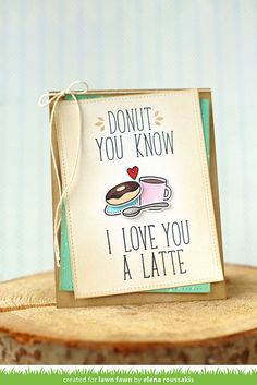 Lawn Fawn - Love You a Latte + coordinating dies, Violet's ABCs, Stitched Rectangle Stackables _ card by Elena for Lawn Fawn Design Team