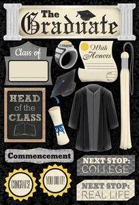 Graduation > The Graduate Cardstock Stickers: Stickers Galore