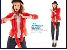 red, bright and new. the academy blazer.