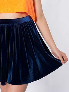 Velvet Full Woven Skirt | Minis | Women's Skirts | American Apparel