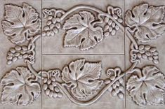 Grapes and Leaves for Wall Insert